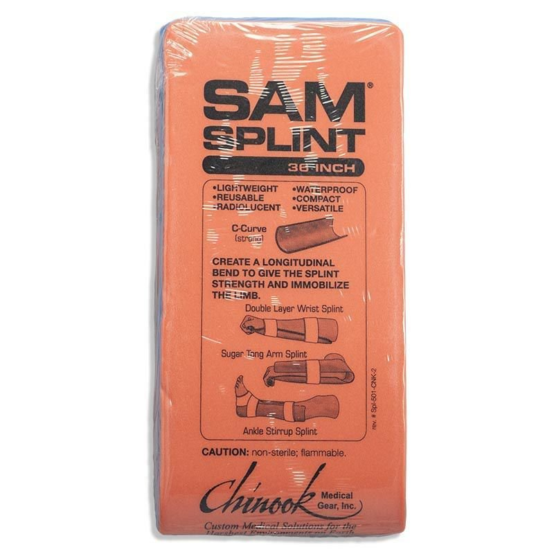 SAM Medical SAM Splint - Orange/Blue
