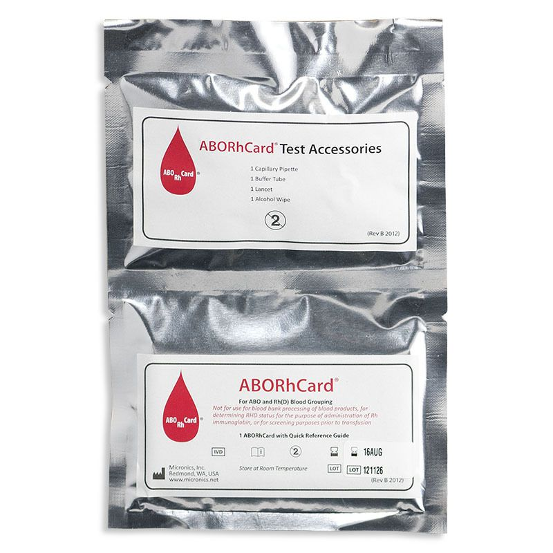 ABORhCard (Blood Typing)