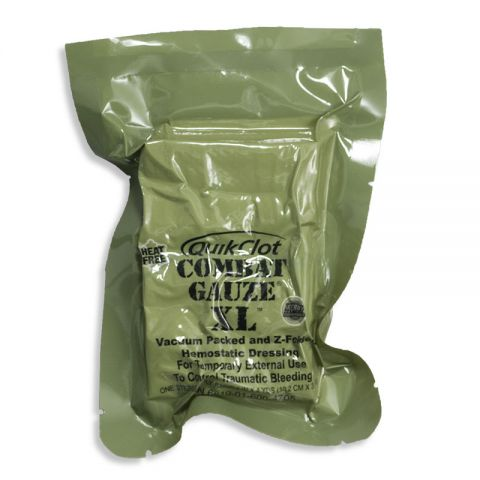 QuikClot Combat Gauze, Z-Fold XL (Military Shelf-Life)
