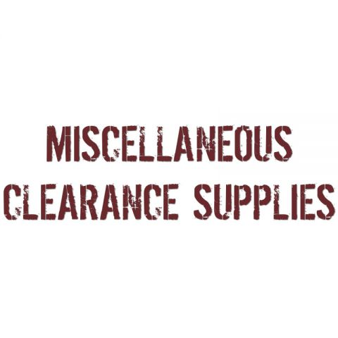 Miscellaneous Clearance Supplies