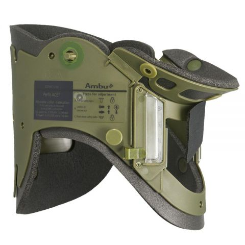 Ambu Perfit ACE Extrication Collar, Adult Military Green