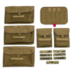 Chinook Medical Gear Medical Operator pack and bag inserts coyote brown