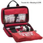 Traveler Kit with Medical Supplies and Bleeding and CPR Basic Kit