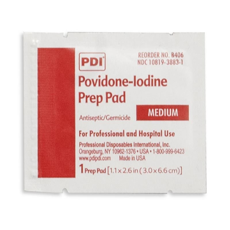 Chinook Medical Gear, Inc. Povidone-Iodine Prep Pads
