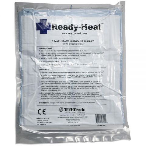 TECHTRADE LLC Ready-Heat Disposable Heated Blanket 34