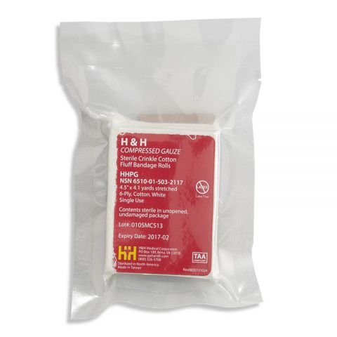 h&h PriMed Compressed Gauze, TAA Compliant