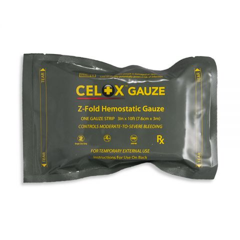 Combat Medical Systems, LLC CELOX Gauze, 10' Z-Fold