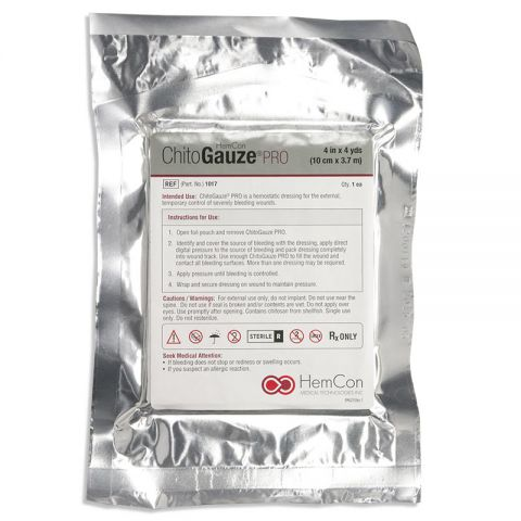 Tricol Biomedical, Inc. ChitoGauze PRO, 4in x 4yds