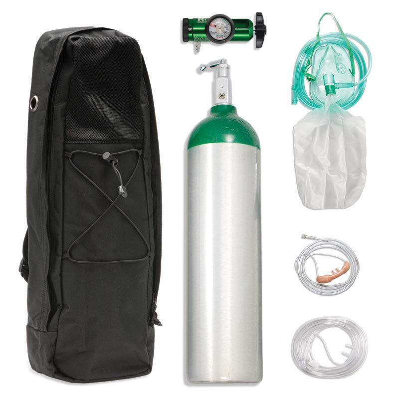 Chinook Medical Gear, Inc. Aluminum Alloy Oxygen Systems - D (425L)
