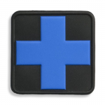 Medical Cross Patch, Black with Blue Cross