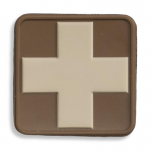 Medical Cross Patch, Brown with Tan Cross