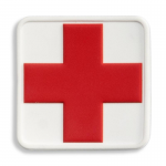 Medical Cross Patch, White with Red Cross