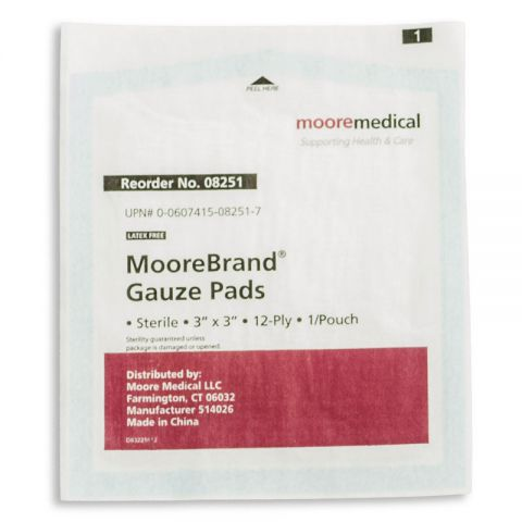 Moore Medical Corp. Sterile Gauze, 3