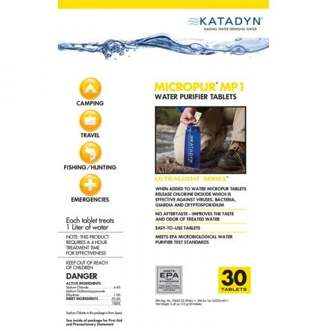 chinook medical gear Katadyn Micropur Water Purification Tablets