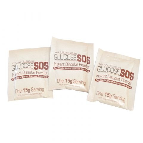SOS Life Sciences Corporation Glucose SOS Slimpak, Neutral Flavor, (15.6g)