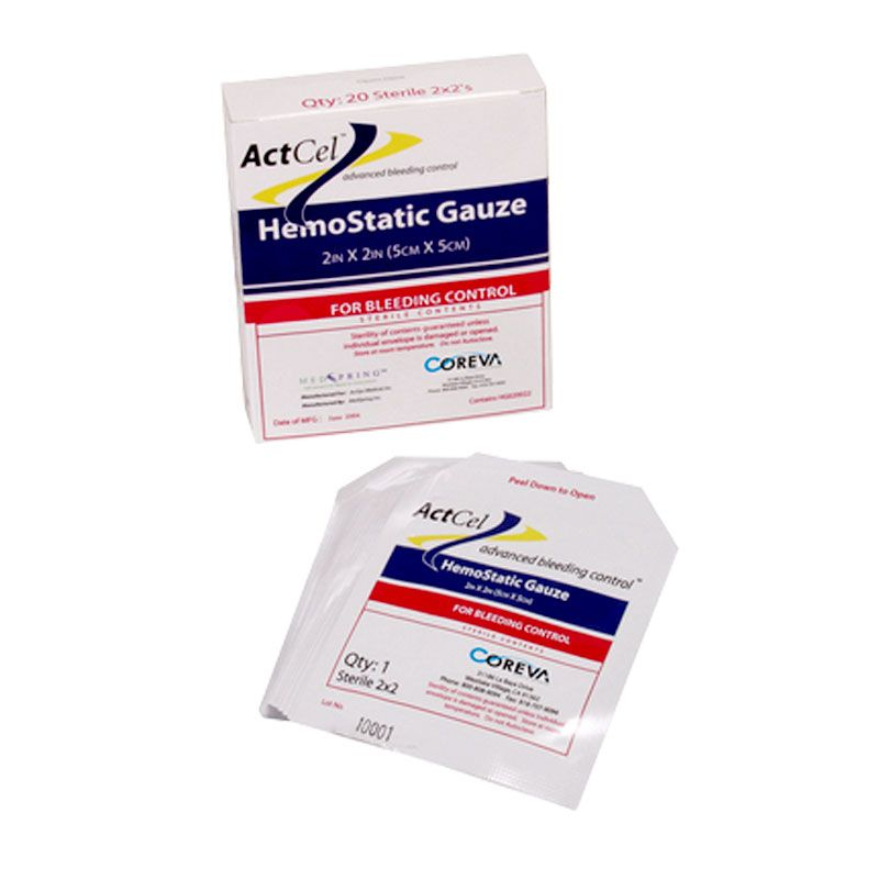 Coreva Health Sciences ActCel Hemostatic Gauze - 2x2