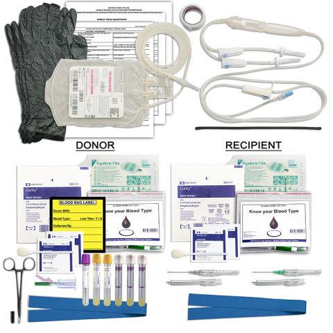 Chinook Medical Gear Whole Blood Collection & Transfusion Kit