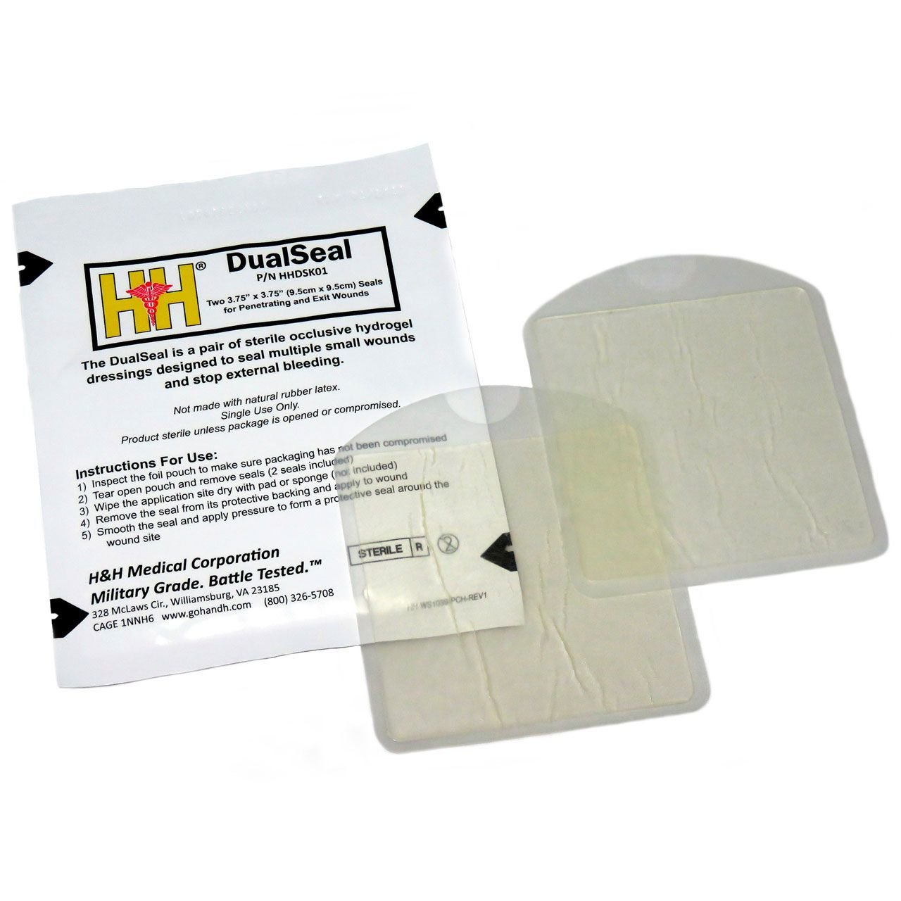 H&H Medical DualSeal Chest Seal Two-Pack