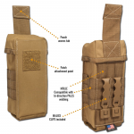 Chinook Medical Gear Individual First Aid kit pouch and insert coyote brown front and back with malice clips