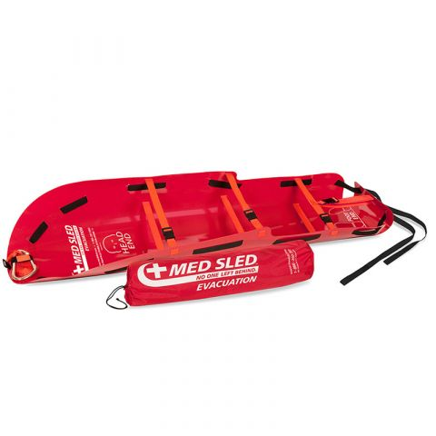 ARC Products, LLC Med Sled Patient Transport Sled, Red