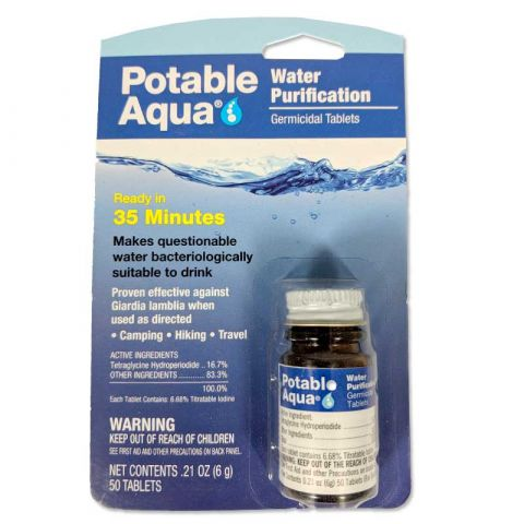 Liberty Mountain Accounting Potable Aqua Tablets (50/bottle)