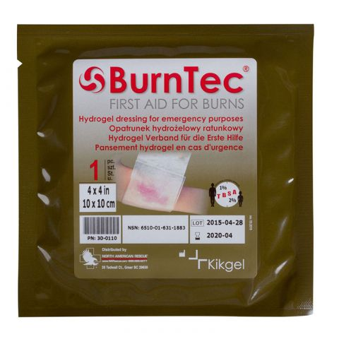 North American Rescue BurnTec Burn Dressing, 4