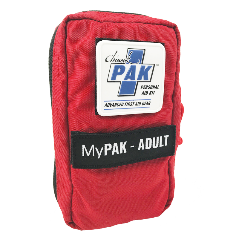Chinook Medical Gear My PAK-Adult (Personal Aid Kit), Red