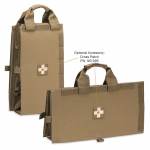 Chinook Medical Gear Medical Insert kit and bag coyote brown with brown and white medical cross