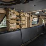 Chinook Medical Gear Medical Panel Insert kit and bag hanging in police armoured vehicle