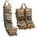 Chinook Medical Gear Medical Panel Insert kit and bag coyote brown